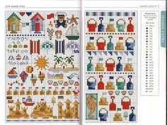 beaches, cabana, beach item, crossstitch, borduren en, beach cross stitch, beach motif, cross stitch patterns, cross stitches