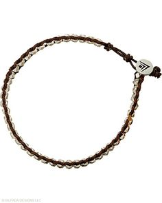 This faceted #Sterling #Silver #Bead and #Leather #Bracelet with a Button Clasp is both rugged and practical. #Silpada #Jewelry