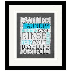 Gather the Laundry Framed Giclee