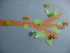 Fun spring activity using farfalle (butterfly) pasta