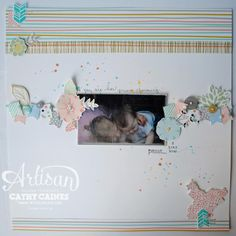 Love, love this layout made with the #SweetSorbet designer series paper from Sale-A-Bration.  #SAB  #SU