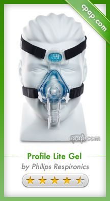 The Profile Lite Gel mask has an innovative gel cushion which offers a custom fit for better sealing and comfort. Click on the image above for more information!