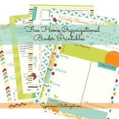 Free Home Organization Printables!