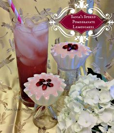 Sansa's Spiked Pomegranate Lemoncakes by Booze, Sugar & Spice - Game of Thrones Series