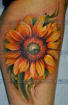 sunFlower Shoulder Tattoos for Women   Best sunflower tattoo Flowers Tattoo Designs
