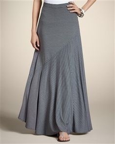 Directional Stripe Sammi Maxi Skirt  $89.00) Chico's)Women's Dresses & Women's Skirts: Casual Dresses, Stylish Skirts - Chico's