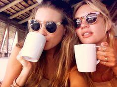 Coffee & sunnies #sisters #besties #friendship