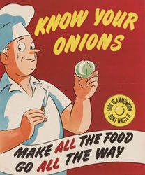 onions - 1942 wwII poster