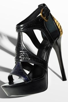 The new woven raffia platform sandals from the Burberry Spring/Summer 2012 accessories collection