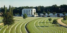 [Cambridge American Cemetery and Memorial site in England]