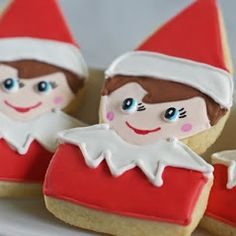 Elf on the Shelf cookies!   From Bake at 350 {I ADORE these!}
