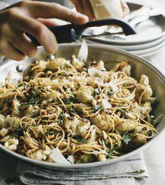Roasted cauliflower capellini