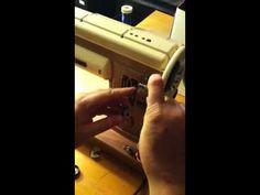 Part 1 - Singer 301 sewing machine winding bobbin