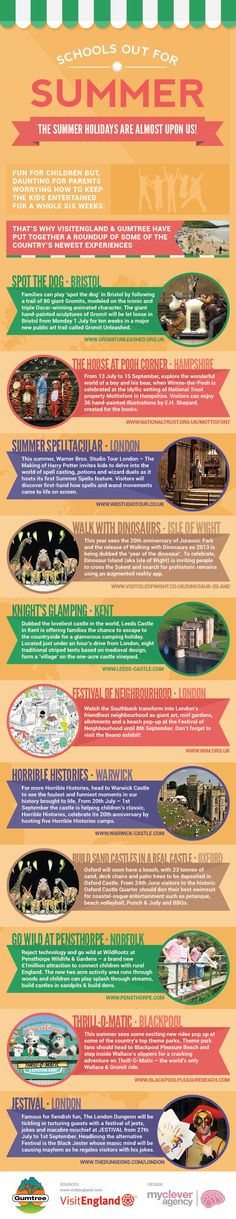 School out, summer holidays #infographic