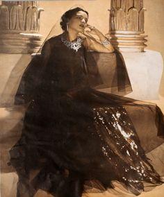 The globally famous beauty and style icon Princess Rani Sita Devi of Kapurthala. photo by Cecil Beaton (1930s)
