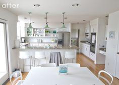Bright & white airy kitchen
