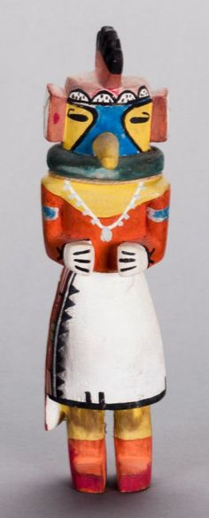 54016: A HOPI COTTONWOOD KACHINA DOLL c. 1940 : Lot 54016
