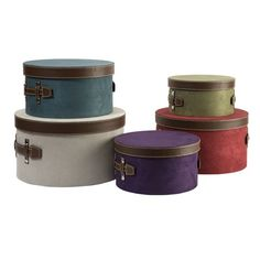 cute hat boxes make a great craft fair or store display. Use them to transport your merchandise, then use them to vary the heights in your display