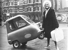 """Smallest ever car to go into mass production was the fascinating """"Peel"""" P50 car (you could almost carry it as a suitcase)"""
