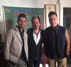 Today at the office: Raul, Mexia and their dad Hernan from Los Tigres del Norte!