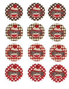 FREE Sock Monkey Baby Shower printables | Tricks of the Motherhood Trade