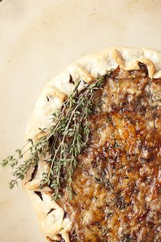 Caramelized Onion and Gruyere tart