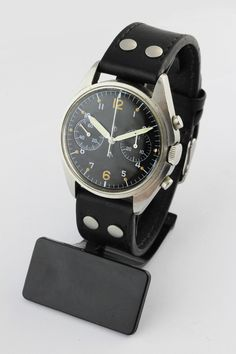 British Military Pilots Hamilton Chronograph Wristwatch Dated 1972 RAF