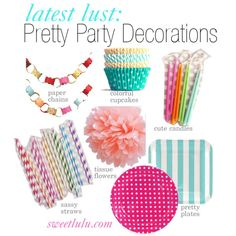 Pretty Party Decorations