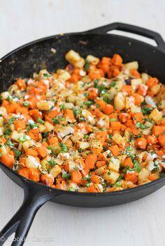 Sweet Potato & Endive Hash Recipe with Sriracha Buttermilk Sauce by CookinCanuck, via Flickr