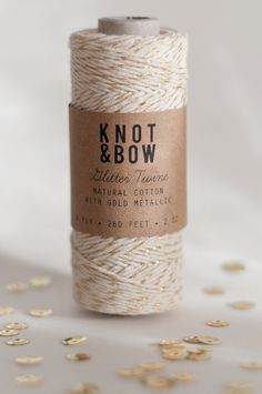 Gold Glitter Twine by KNOT & BOW