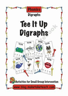 Tee It Up For Digraphs product from Make-Take-Teach on TeachersNotebook.com