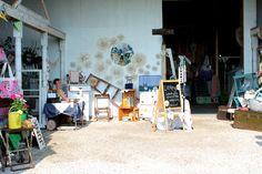 larking's booth at Na-Da Farm Barn Sale