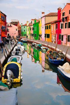 Love Burano, Italy, so colorful and fun!