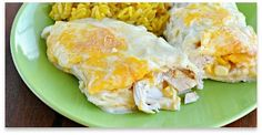 easy white chicken enchiladas recipe dinner, creami white, cook, food famili, drink recip, enchilada recip, yummi, chickenenchilada, white chicken enchiladas