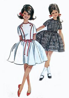 1960s #Vintage Girls #sewing #Pattern McCalls 6894 Dress by Helen Lee with attached petticoat Size 8 Breast 26 inches