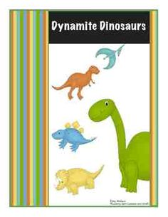 A 71 page unit that includes everything from babysitting a dinosaur to creating volcanoes and museums.  Play pin the spike on Stegosaurus, and go on a dig.  Make up a story about Dimples the dinosaur and help celebrate her 4th birthday.  From Science to Literacy, Physical activities to Cooking, your centers are covered! $8.00