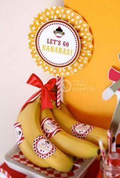 Sock Monkey Birthday Party Idea Bananas