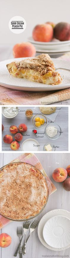 Sour Cream Peach Pie peach pie, cream peach, pie recipes