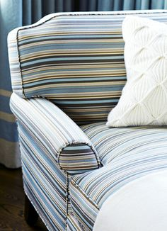 Try a small stripe for furniture // Patterns