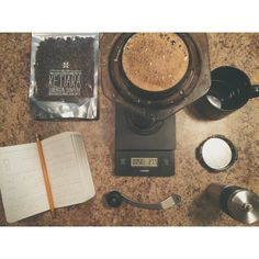 It's #brewthirty and I'm perfecting brews. Aeropress, field notes, and Sumatra beans from Tonx. @Lan Downing of a Thousand Hills Coffee Co. #tonx #aeropress #fieldnotes #brewhard #coffeesesh // Instagram photo by @Alexander Forsén Forsén.mills (Alexander Mills)