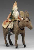 §§§ . Early Santa on nodding donkey (see larger)