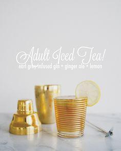 ice tea, iced tea, ginger ale