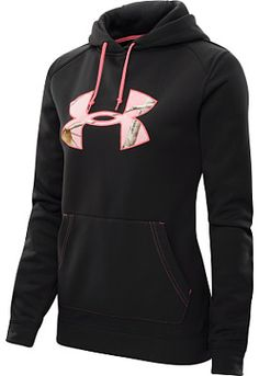 When the weather takes a turn for the worse, you'll be glad you've got the UNDER ARMOUR® women's tackle twill hoodie on your next hunting trip!