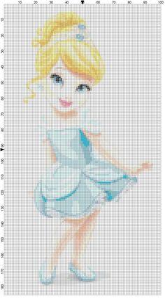 Mini Cinderella cross stitch pattern PDF by Bluegiantstitch, £1.20