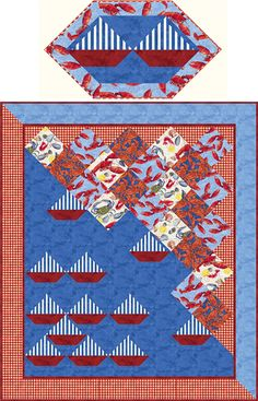 Bar Harbor Quilt Pattern PC-153 (advanced beginner, twin, lap and throw, home decor & houseware, wall hanging)- Patti Carey- $9.50