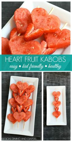 Heart Fruit Kabobs! So fun and healthy too. designdininganddiapers.com