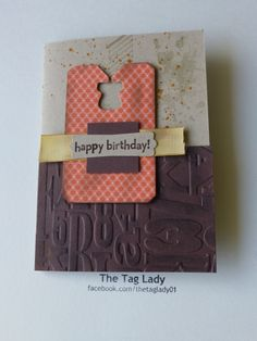 Male/Masculine card using Stampin' Up products: Gorgeous Grunge stamp set; Alphabet Press Embossing folder; Chalk Talk Framelits; You're my Hero for the sentiment