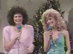 """VIDEO - CLICK IMAGE TO VIEW """"Who you callin' a ding a ling?"""" The Sweeney Sisters at Christmas, Jan Hooks and Nora Dunn split my sides with their  gushing and obnoxious lounge singing."""