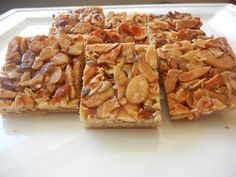 Almond Honey Squares