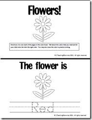 "Colors Booklet, ""Flowers"""